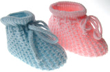 Pink/Blue Knitted Bootees