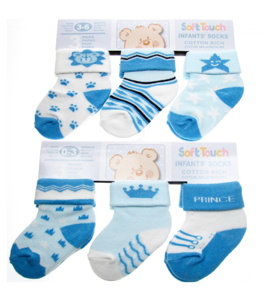 SOFT TOUCH INFANTS SOCKS COTTON RICH