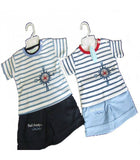 TODDLERS STRIPE T-SHIRT & SHORT SET
