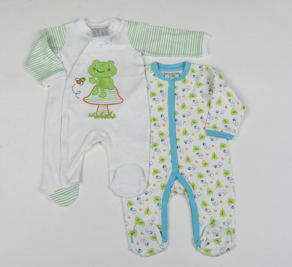 Baby 2pc Sleepsuit Set - Bee and Frog - 0-9 Month (G1474)