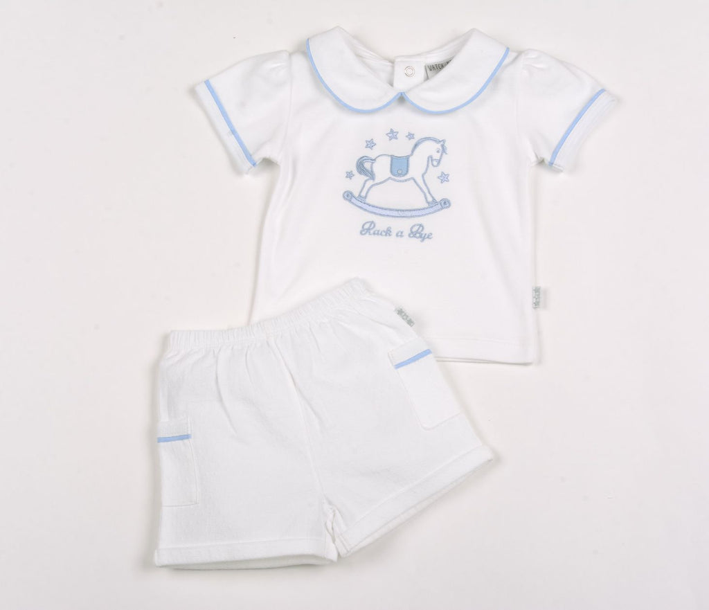 Baby Boys Polo & Shorts Set - Rocking Horse - NB-6M (G1305)
