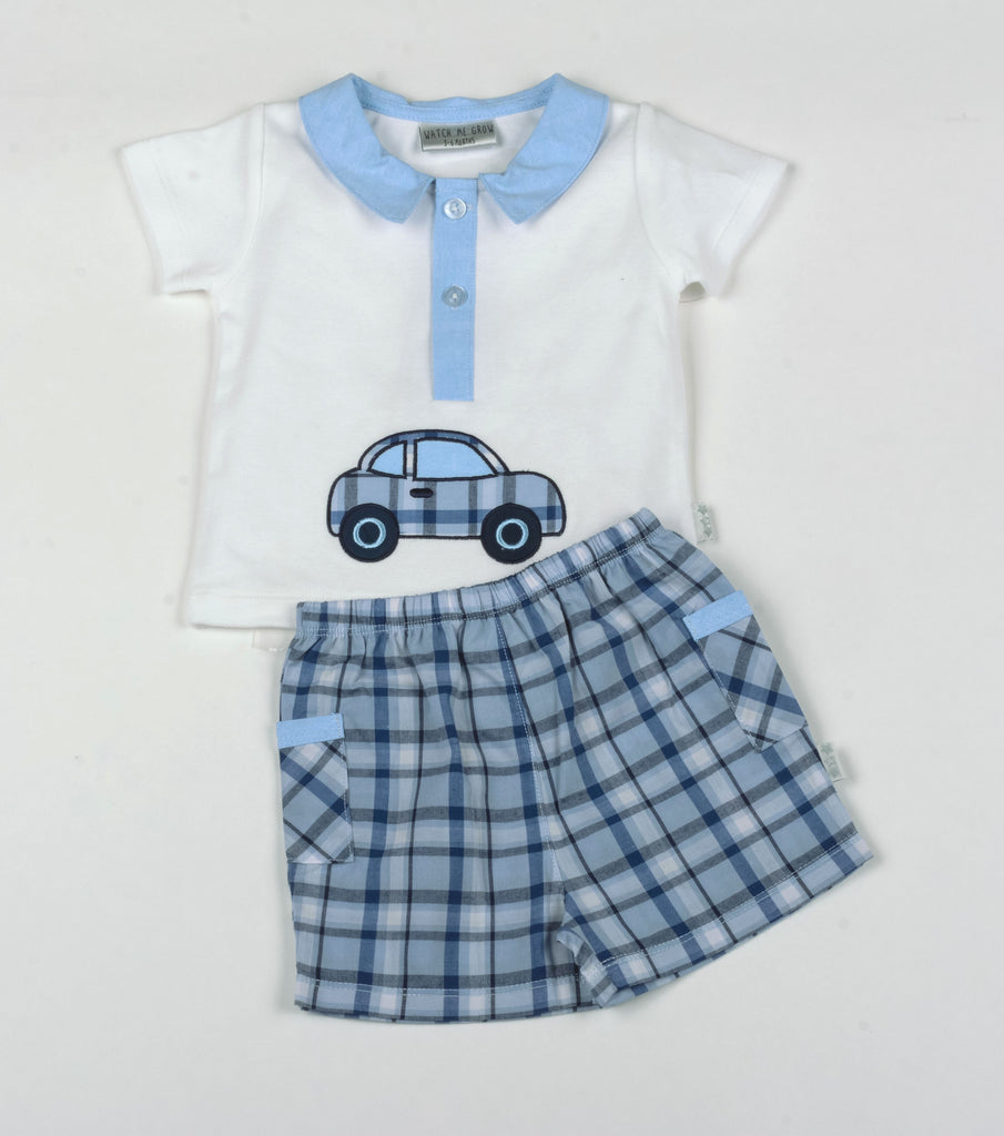 Baby Boys Polo & Shorts Set - Car - NB-6M (G1314)