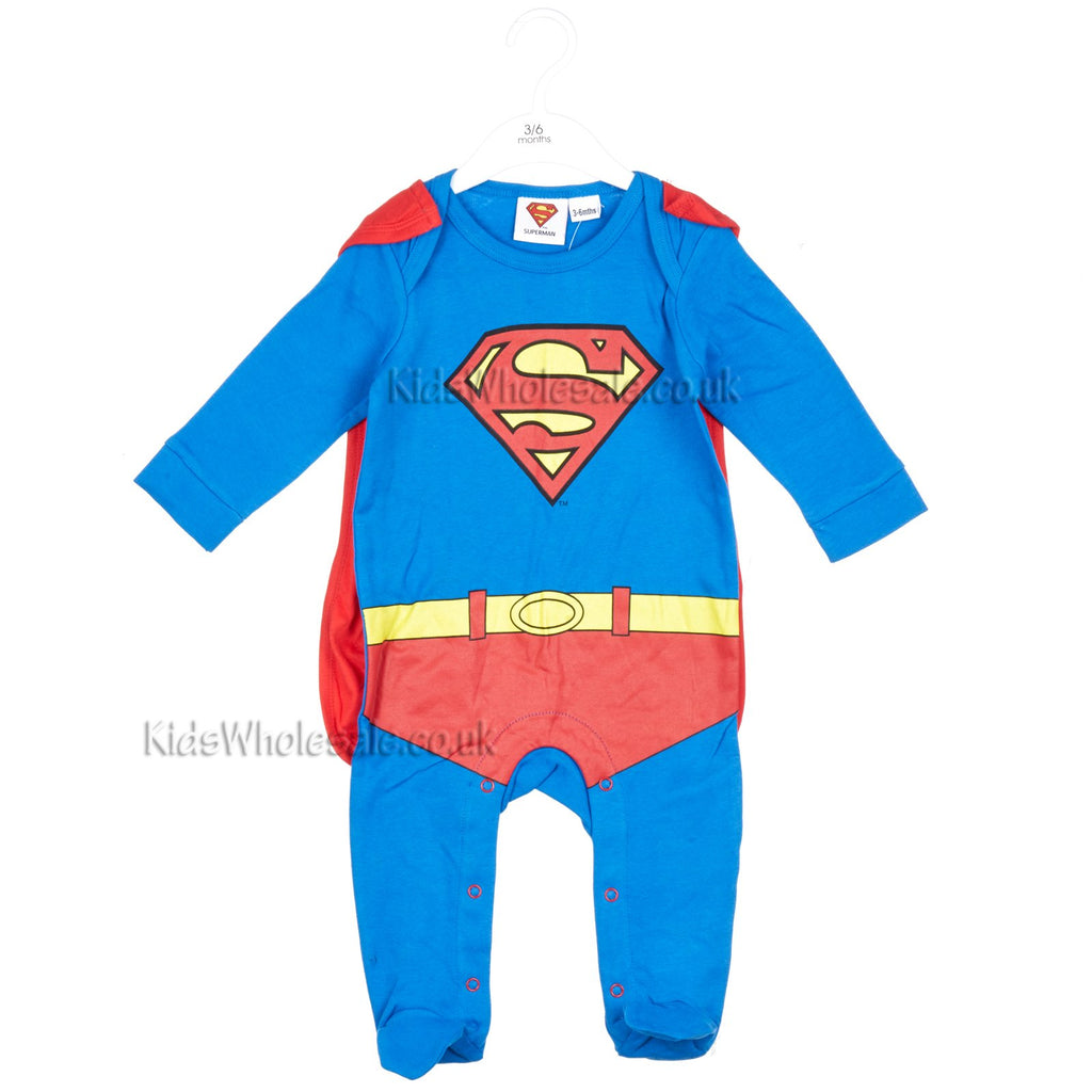 4f03b14d11d3 Official Superman Baby Sleepsuit w Cape - 0-9 Months - (Sup2 ...