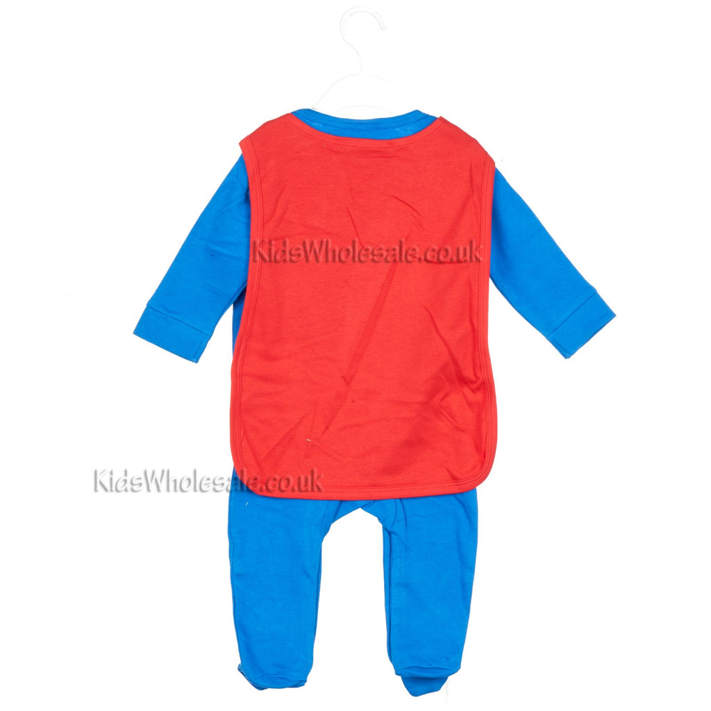 Official Superman Baby Sleepsuit w/Cape - 0-9 Months - (Sup2)