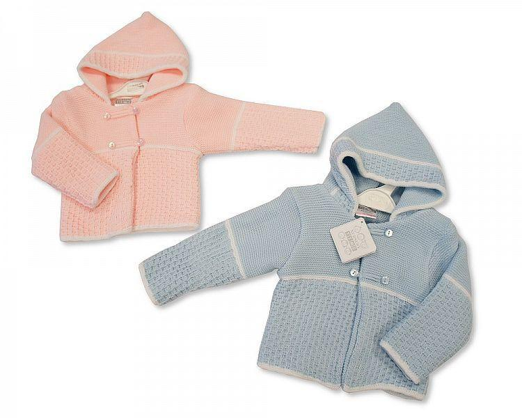 Knitted Baby Pram Coat - 0-6 (Bw-1016-626)