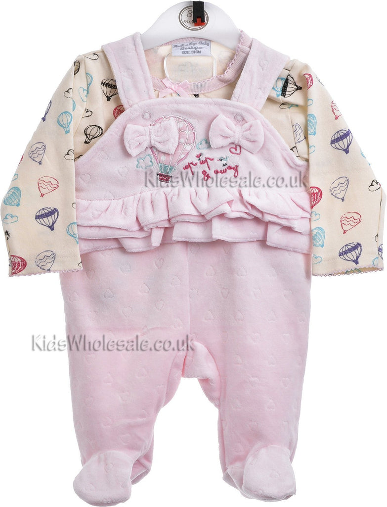 Baby Velour Dungaree (CC2063)