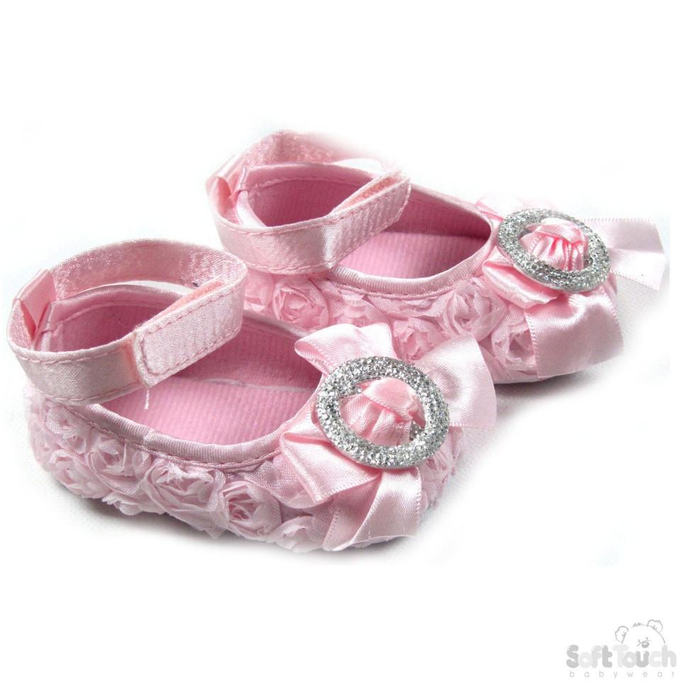 Plain Rose Shoes W/Satin Ankle Strap (B1212)