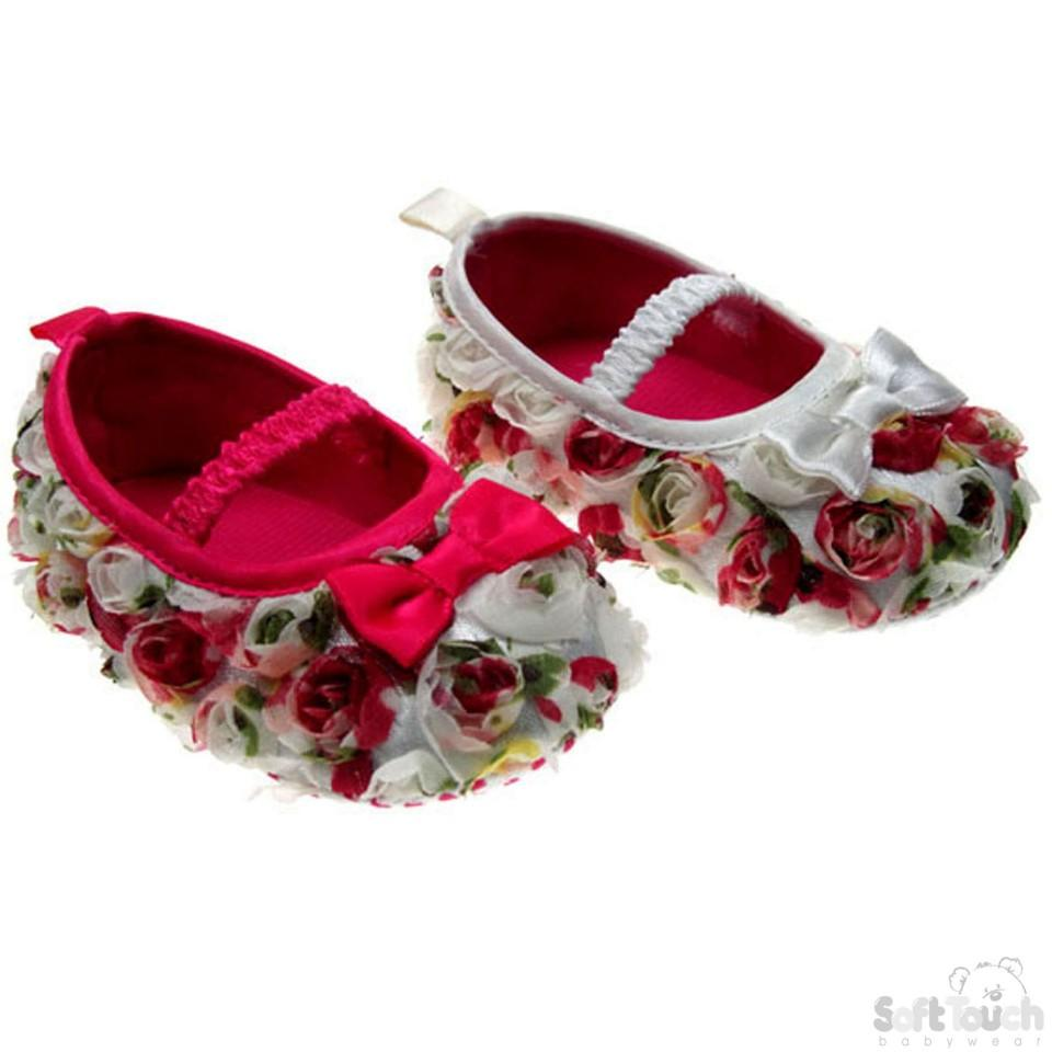 Girls Rose Shoes - NB-12M - B1215