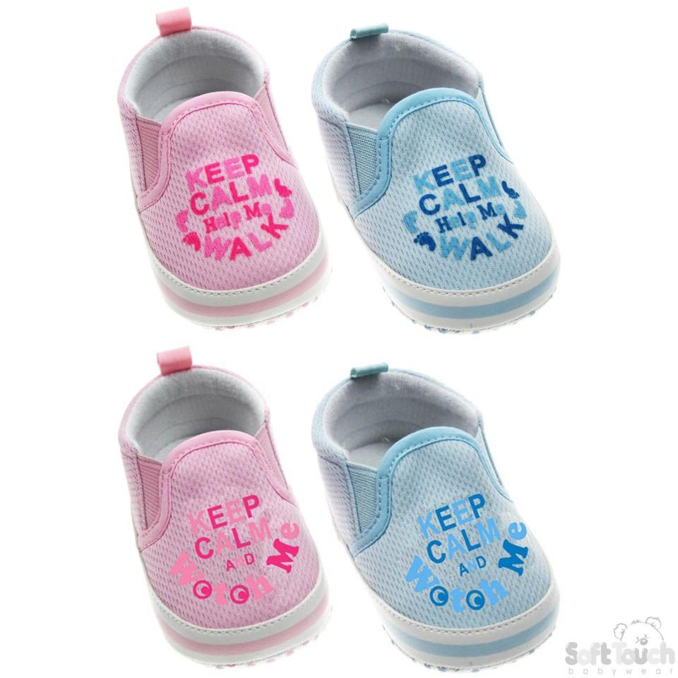 """KEEP CALM AND WATCH ME"" SLIP ON SHOES: B1217"