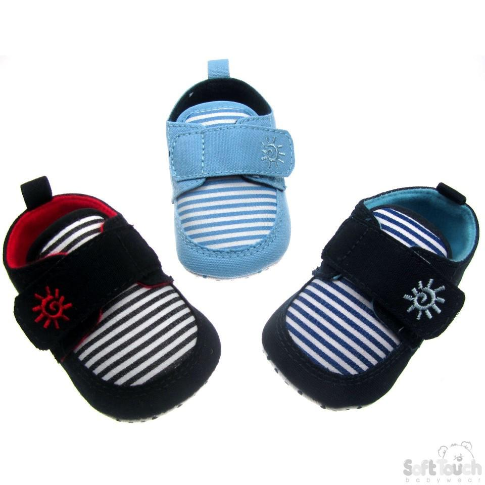 STRIPY SHOES W/VELCRO FASTENER: B2030