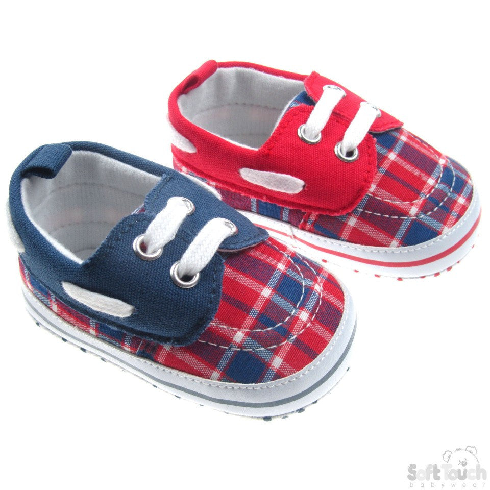 TARTAN SHOES W/LACE TIES: 3B2132