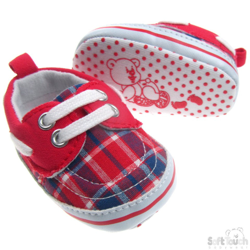 TARTAN SHOES W/LACE TIES: B2132