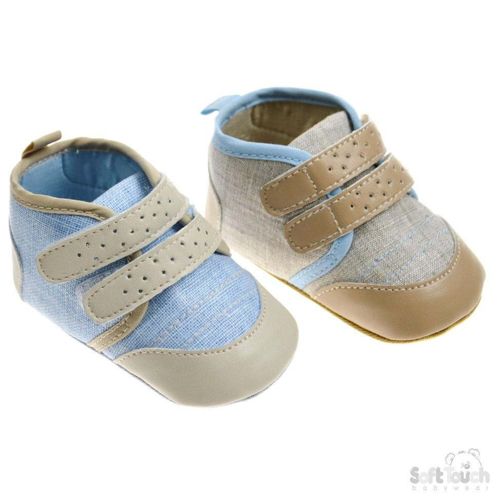 Canvas Shoes W/Contrast Stitching, PU Toe B2170