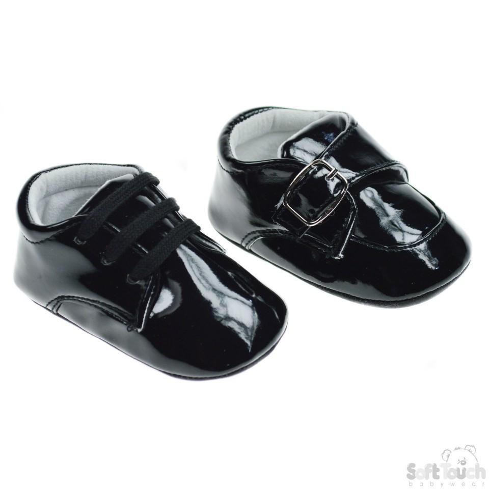 Black PU Shoes: B2176