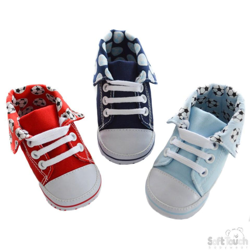 Football PU Trainers (B2196) NB-12 Months - Kidswholesale.co.uk