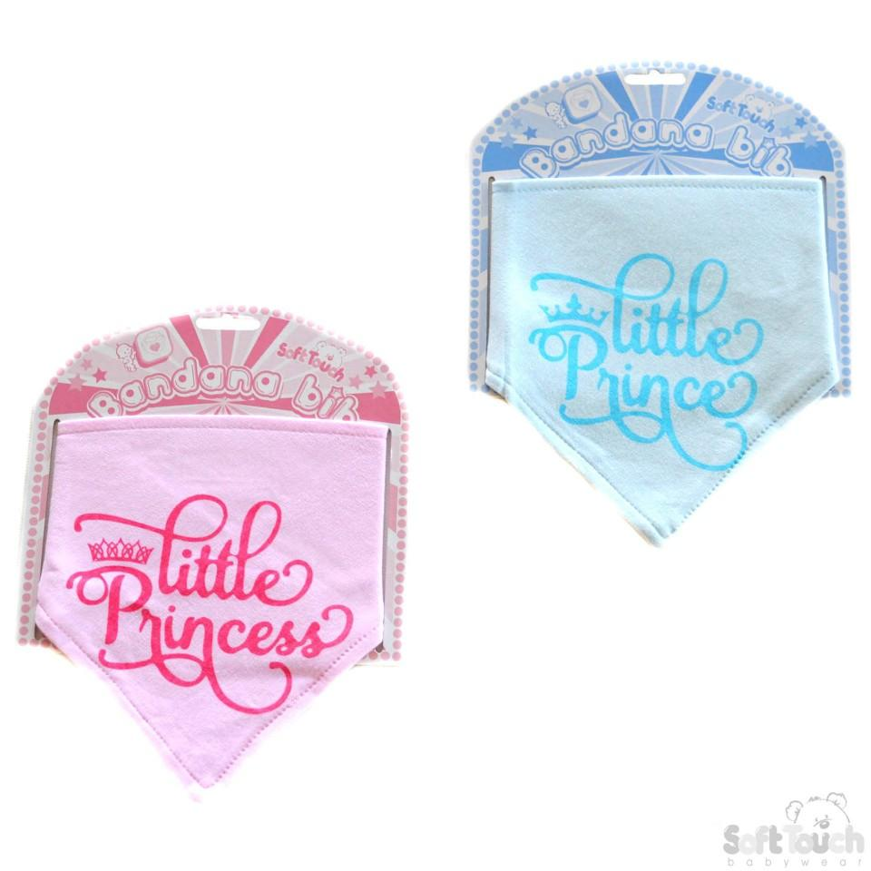 """Little Prince/Princess"" Bandana Bib: BB355"