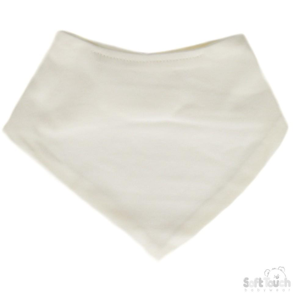 Plain Bandana Bib BB501-Cream