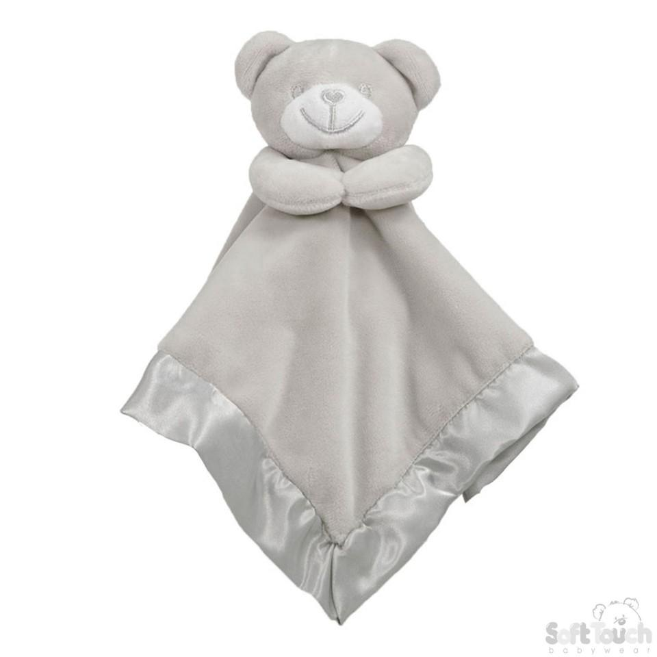Grey Bear Comforter With Satin Back - BC21-G