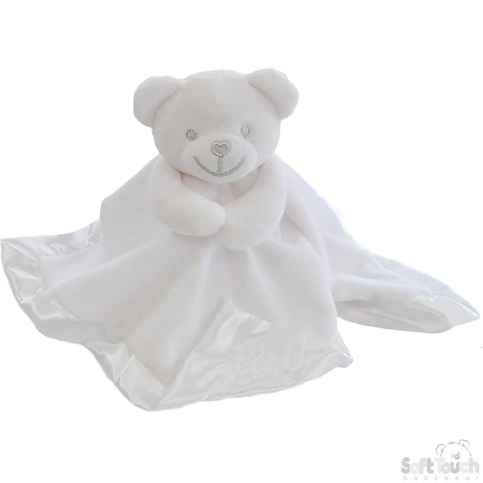 White Bear Comforter With Satin Back - BC21-W