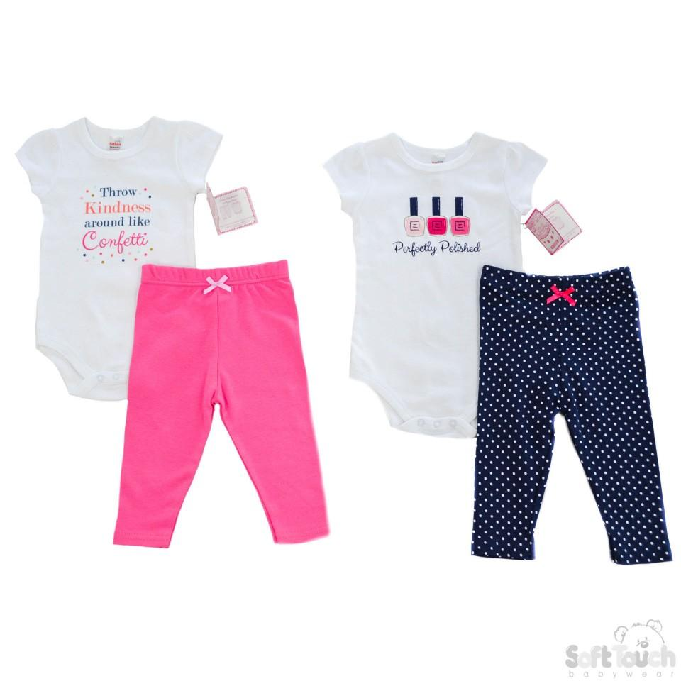 Girls Bodysuit & Pants Set - NB-9M - BG106