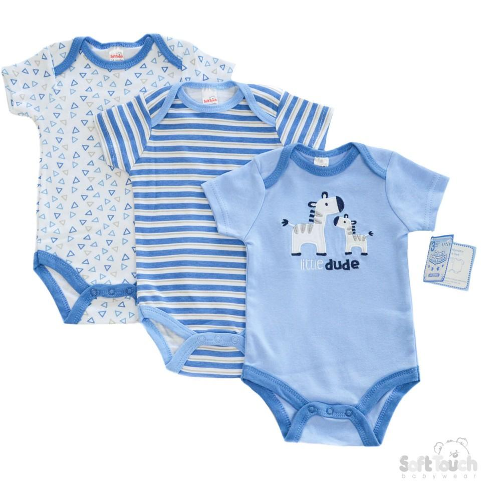 BOYS 3 PACK BODYSUITS: BG46