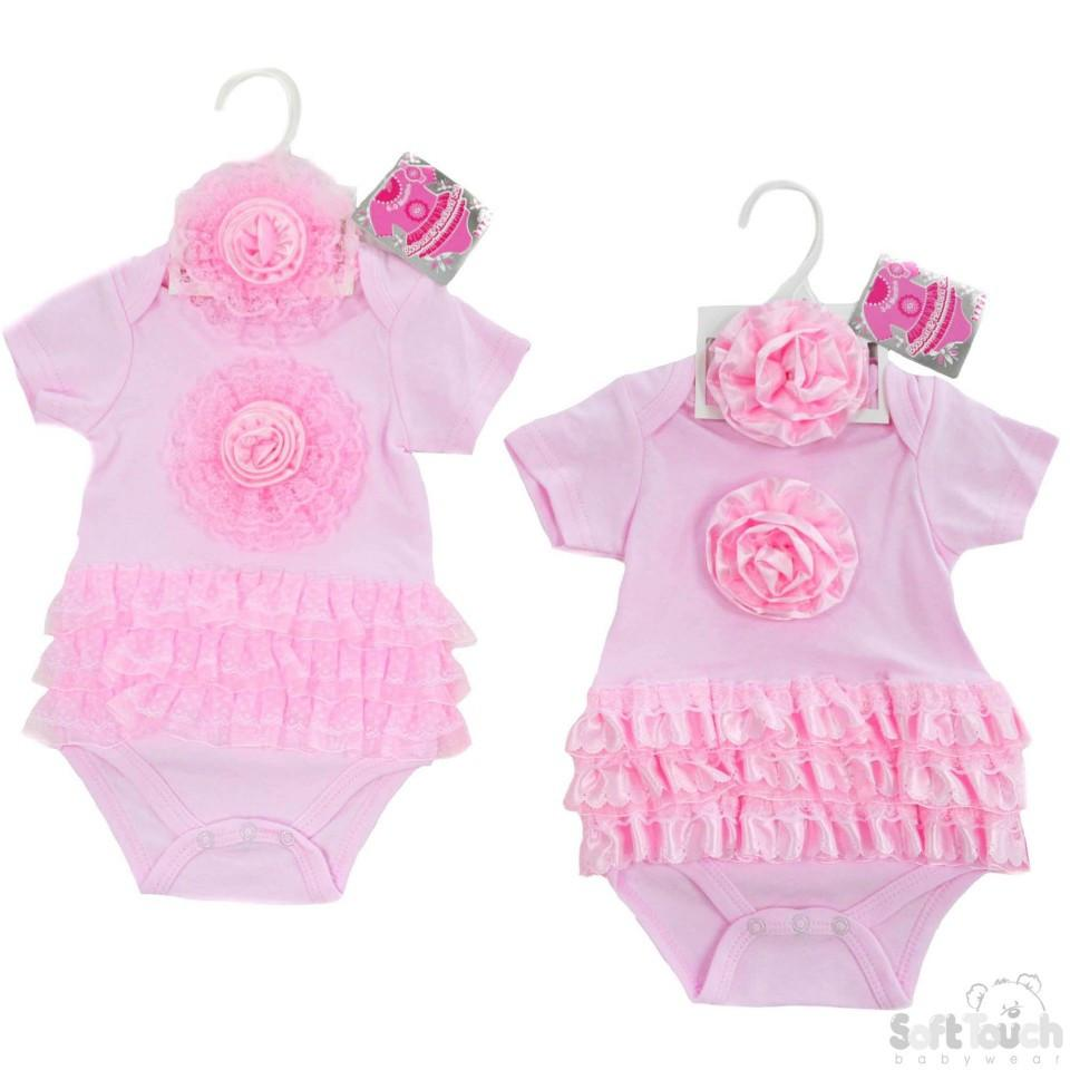 GIRLS BODYSUIT & HEADBAND SET: BG48-P