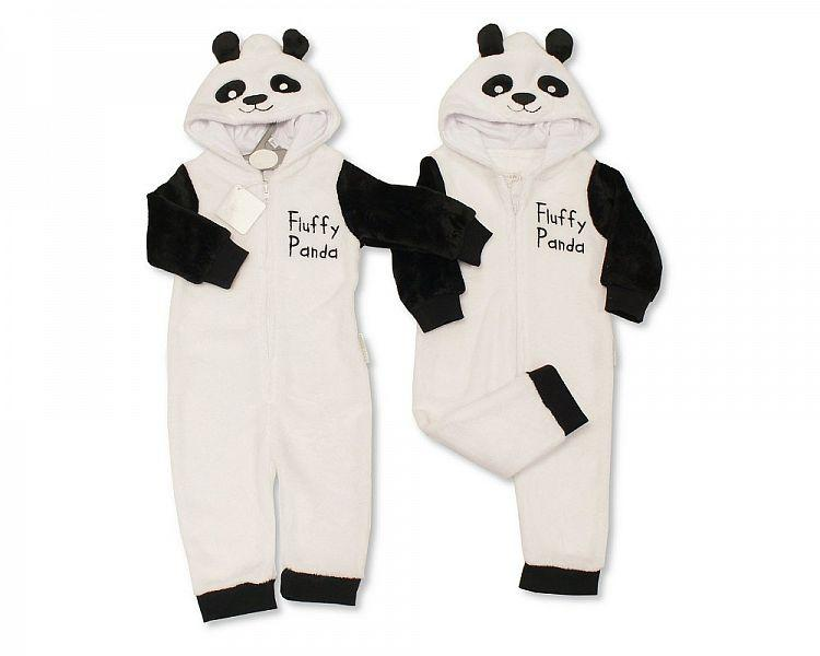 Baby Onesie - Hooded All in One - Fluffy Panda (0-18m) BIS-2020-2339