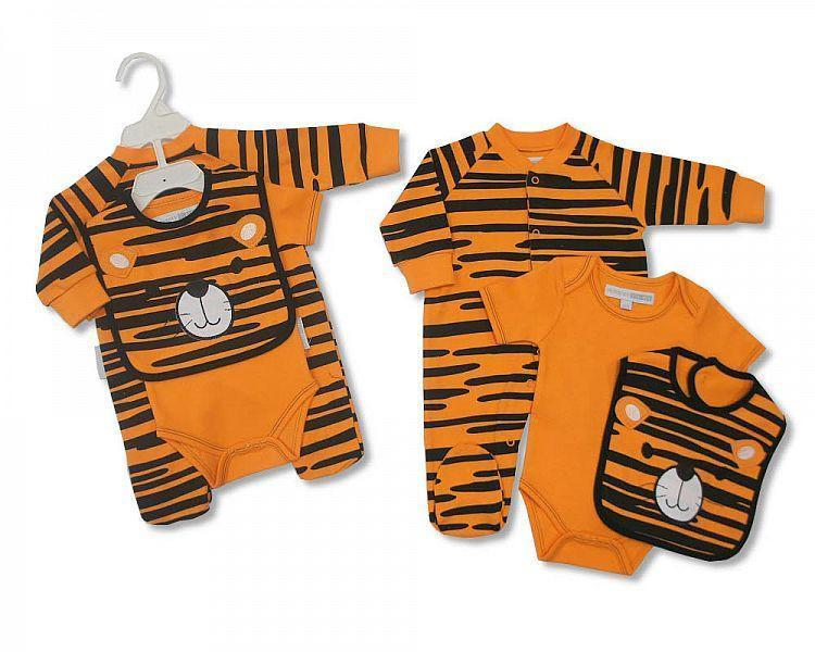 Baby 3 pcs Cotton Set - Tiger (Bis-2023-1307)