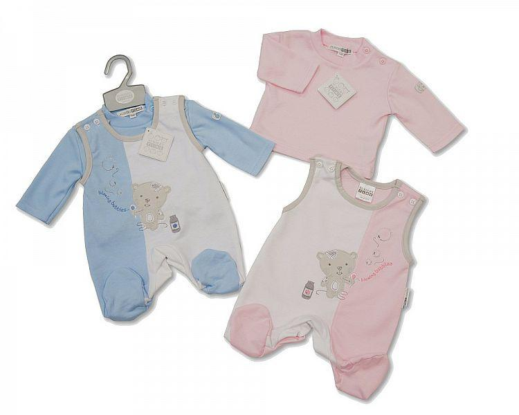 Baby 2 pcs Dungaree - Blowing Bubbles(  Bis 2024-1505 )