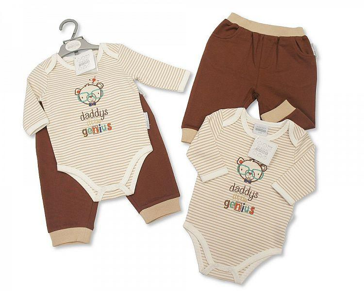 Baby Boys 2 pcs Set - Daddy's Little Genius (Bis 2025-1615)