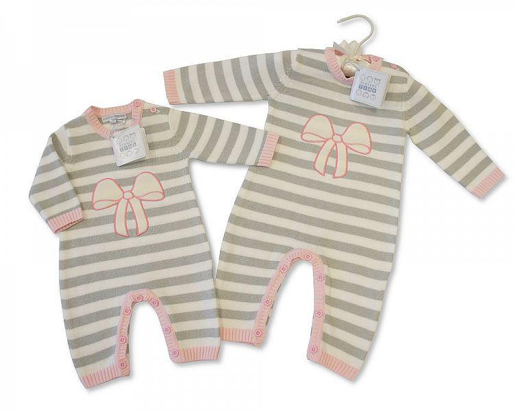 Baby Knitted Romper - Girls (BIS2026-1735P)