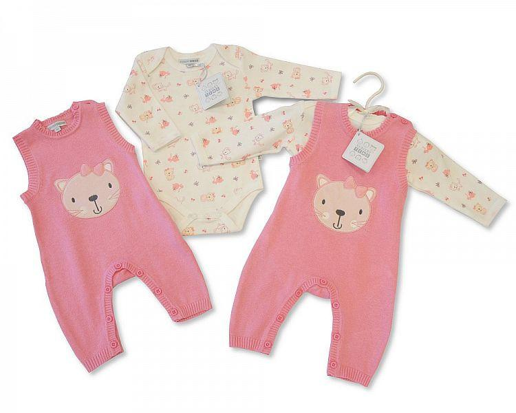 Baby Knitted Romper 2 pcs Set - Girls (Bis 2026-1736P)