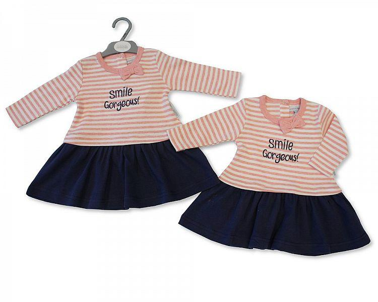 Baby Girls Long Sleeved Dress - Gorgeous (BIS2026-1740)