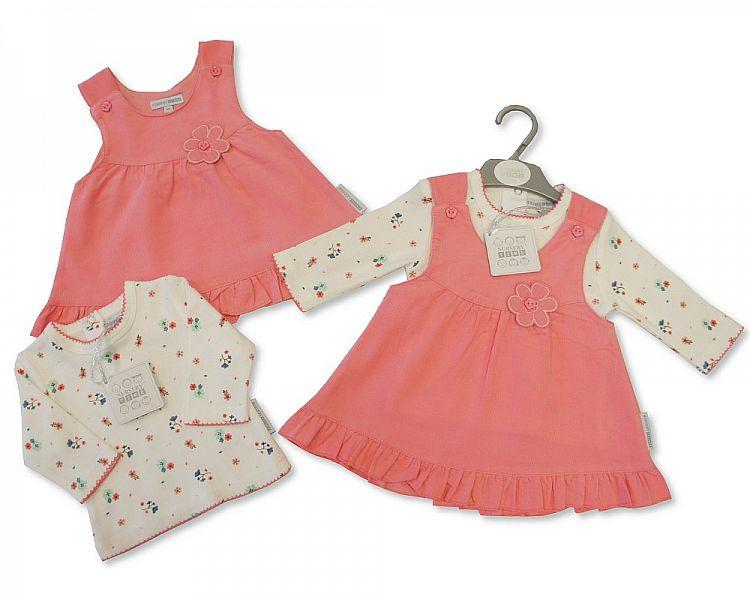 Baby Girls 2 pcs Dress Set - Petal (Bis 2026-1754) - Kidswholesale.co.uk