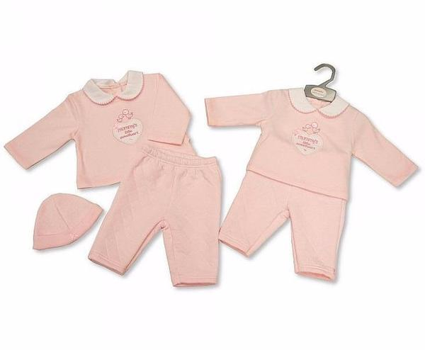 Baby Girls 2 pcs set with a Hat - Sweetheart 0-6 M (Bis 2026-1868) - Kidswholesale.co.uk
