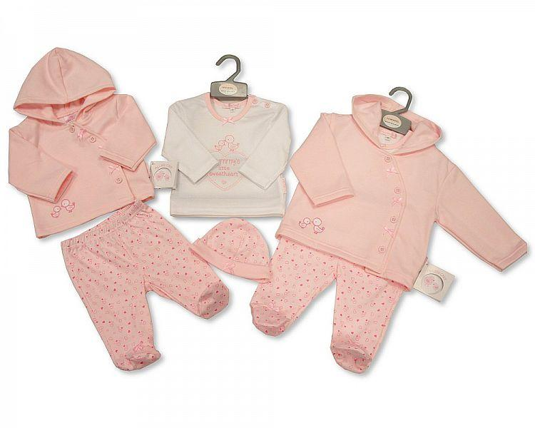 Baby Girls 3 Pieces Set with Hat 0-6 M (Bis 2026-1873)