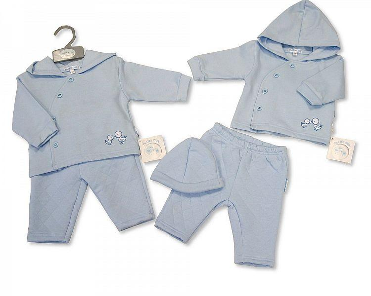 Baby Boys 2 Pcs Set with Hat - 0-6 M (Bis 2026-1880) - Kidswholesale.co.uk