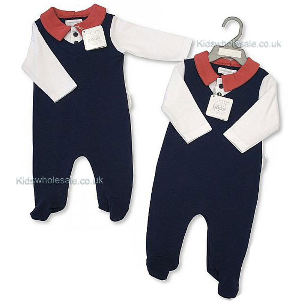 Baby Boys All in One - Smart -Navy 0-9 Months (Bis 2027-1887)