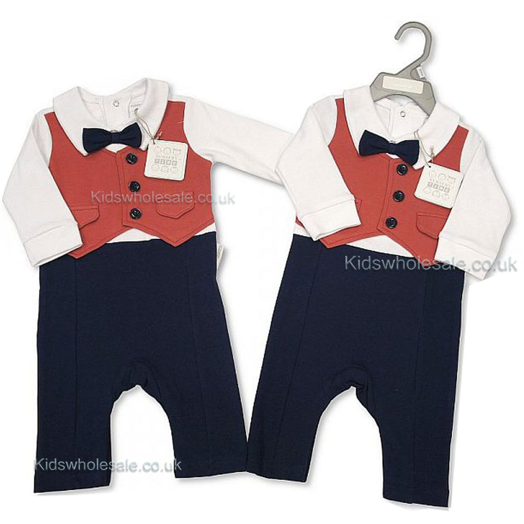 Baby Boys All in One - Smart Bow Tie 0-9 Months (Bis 2027-1889)