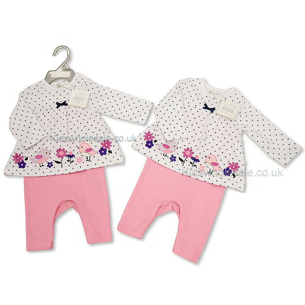 Baby Girls 2 Pieces Set- Birds & Flowers (BIS-2027-1894)