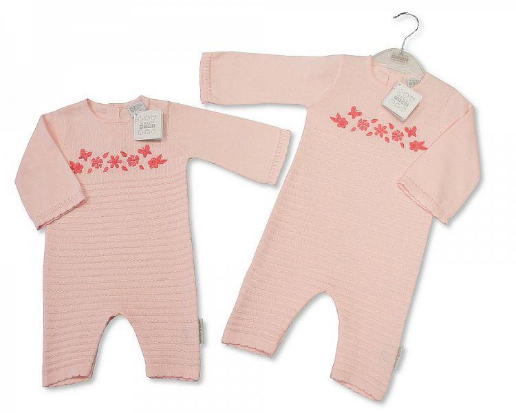 Baby Girls Knitted Cotton Romper - 1902 - Kidswholesale.co.uk