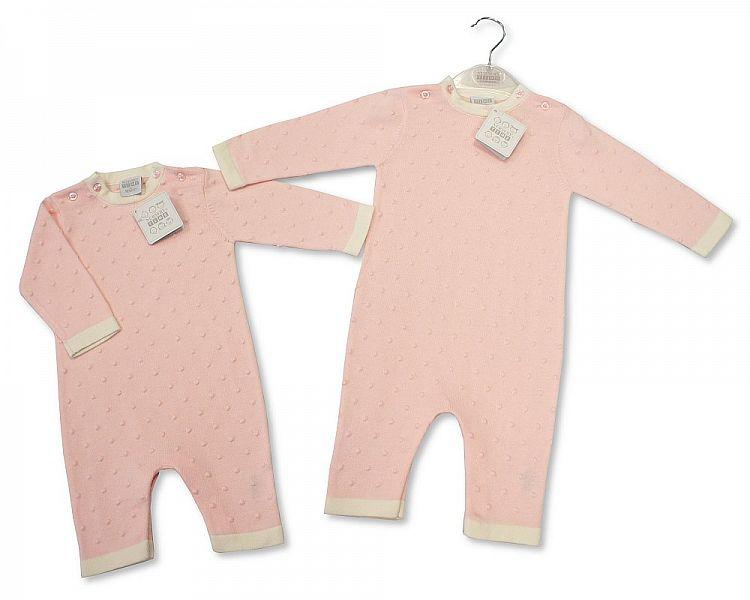 Baby Girls Knitted Bubble Cotton Romper - NB-6M - (BIS-2027-1904)