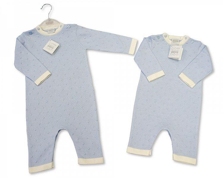 Baby Boys Knitted Bubble Cotton Romper