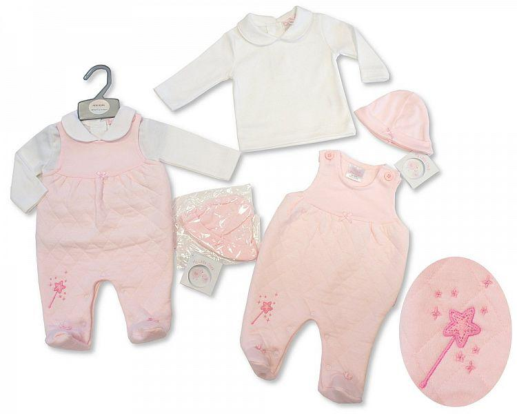 Baby Girls 2 pcs Set with Hat - I Wish - NB-3M - (BIS-2027-2069)