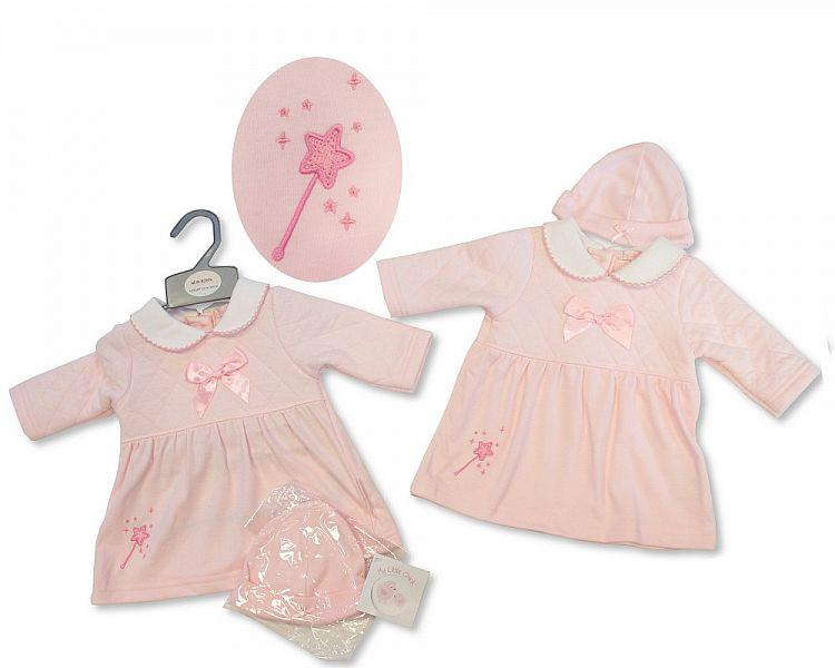 Baby Girls Dress W/Bow & Hat - I Wish - NB-6M - (BIS-2027-2070)