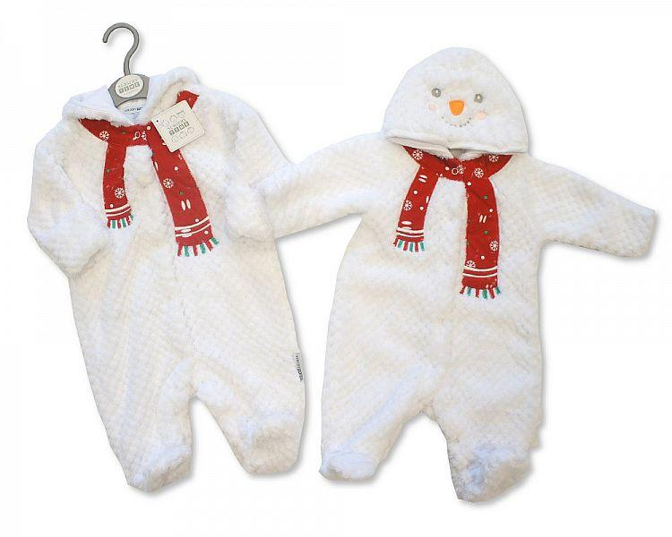 Baby Christmas All in One with Hood - Snowman - NB-6M - (BIS-2028-2105)