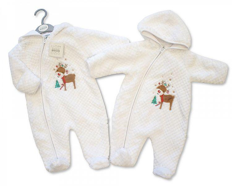 Baby Christmas All in One with Hood - Reindeer - NB-6M - (BIS-2028-2106)