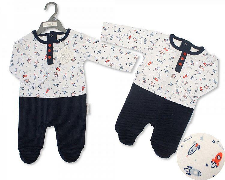 Baby Boys All in One Romper Suit - Rocket - NB-6M - (BIS-2028-2117)