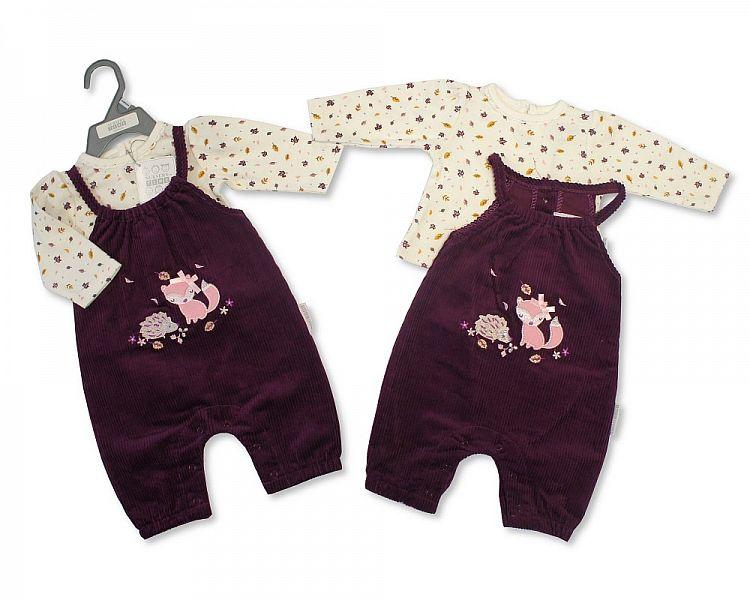 Baby Girls 2 pcs Set - Woodland - NB-6M - (BIS-2028-2128)