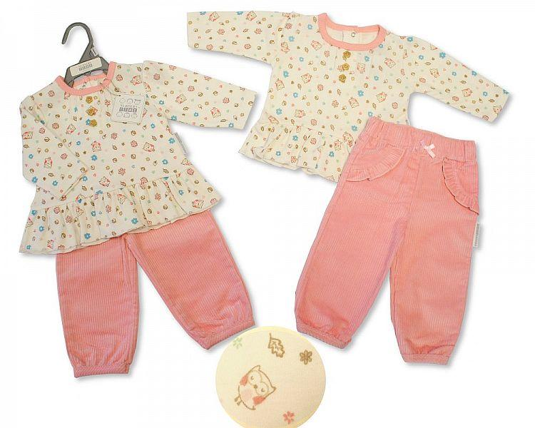 Baby Girls 2 Pieces Set - Little Owl - NB-6M - (BIS-2028-2131)